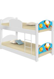 Beliche Infantil Foguete Espacial Com 2 Colchões Casah