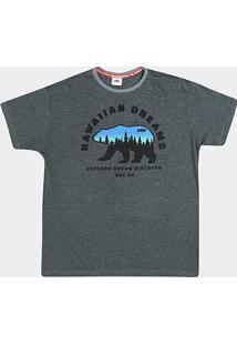 Camiseta Hd Plus Size Weather Bear Masculina - Masculino-Cinza