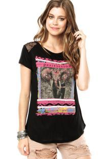 2bc01c48e Camiseta Preta Strass feminina | Gostei e agora?