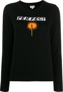 Temperley London Suéter Perfect Match - Preto