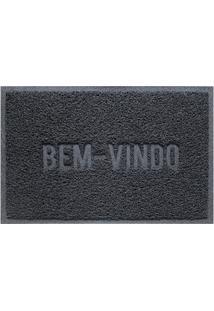 Capacho Vinílico Color Block 60X40Cm Cinza Dark Gray