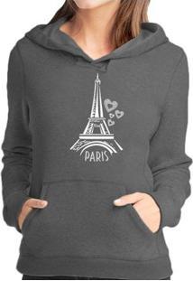Blusa Moletom Vr Paris - Unissex-Chumbo