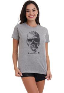 Camiseta Basica Joss Caveira Premium Cinza - Kanui