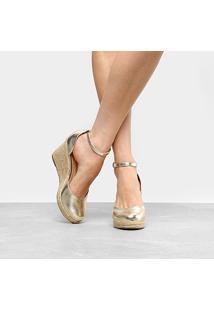 7429bdf98 ... Espadrille Anabela Shoestock Plataforma Fechada Feminina - Feminino -Dourado