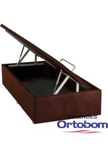 Box Solteiro Com Baú - Camurça Rosolare - Ortobom