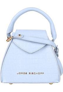 Bolsa Couro Jorge Bischoff Mini Bag Com Textura Feminina - Feminino-Off White