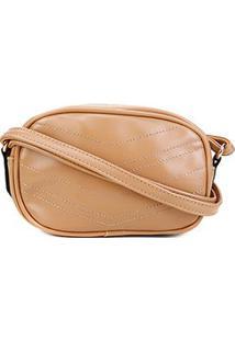 Bolsa Pagani Crossbody Mini Bag Feminina - Feminino-Bege
