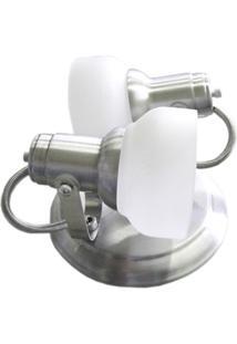 Spot Com Vidro Escovado Para 2 Lampada - Ref: Mf 450/2