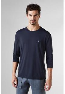Camiseta Reserva Ml Proteçao Solar - Masculino-Preto