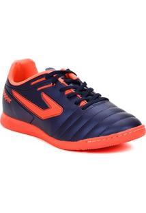 Tênis Futsal Masculino Topper Boleiro Indoor Azul Marinho/Coral