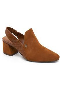 Sapato Bottero Salto Médio 315503 Nobuck Caramelo