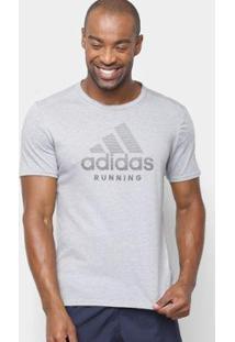 Camiseta Adidas Response Soft Masculina - Masculino-Cinza