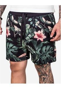 Bermuda Hermoso Compadre De Moletom Flower Ul - Masculino
