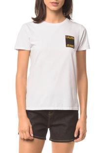 Blusa Ckj Fem Logo Calvin Jeans - Branco 2 - P