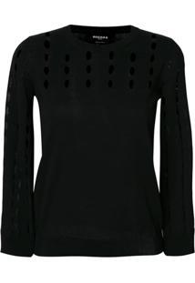 Rochas Suéter Com Perfurações - Preto