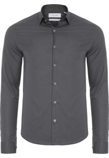 Camisa Masculina Cannes Estampa Exclusiva - Cinza
