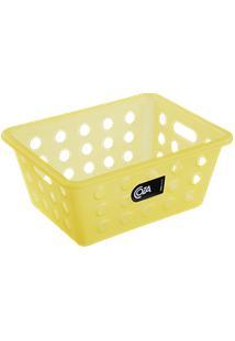 Cesta One Pequena 18,6 X 14,2 X 8,2 Cm Amarelo Coza