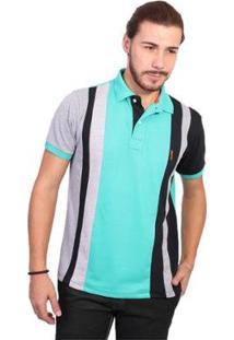 Camisa Polo Golf Club Trios - Masculino-Verde+Preto