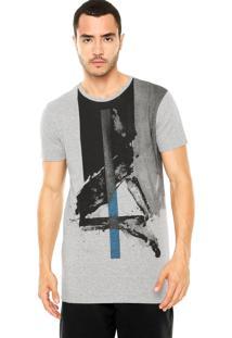 Camiseta Calvin Klein Jeans Tinturado Cinza