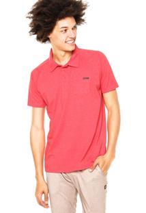 Camisa Polo Oakley Essential Pocket Vermelha