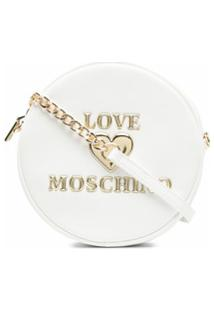 Love Moschino Bolsa Transversal Com Placa De Logo - Branco