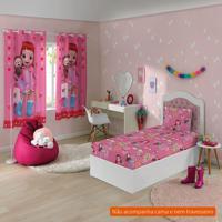 df5b366173 Jogo De Cama Infantil Com 2 Peças Rainbow Ruby Iii Algodão Rosa