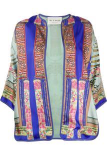 Etro Jaqueta Kimono De Seda - Azul