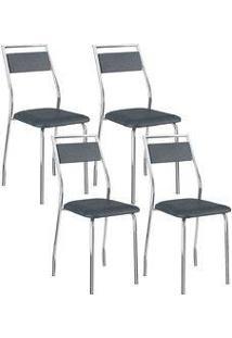 Cadeira 1717 Cromada 04 Unidades Jeans Carraro