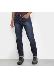 Calça Jeans Reta Replay Estonada Masculina - Masculino-Jeans