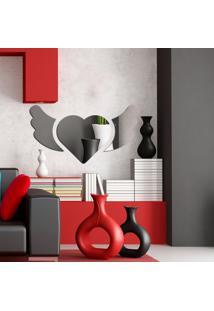Espelho Decorativo Asas E Coração