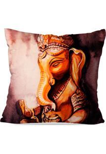 Capa De Almofada Avulsa Decorativa Ganesha 35X35Cm