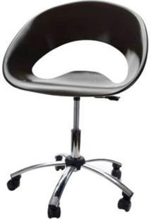 Cadeira One Giratoria Cromada C/Braco Cor Preto - 22660 - Sun House