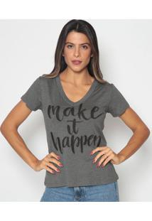 Blusa ''Make It Happen'' - Cinza Escuro & Preta- Cavcavalari