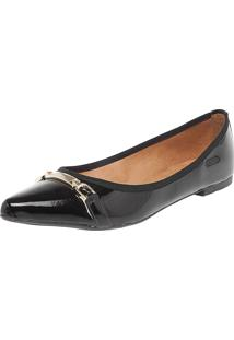 Sapatilha Dafiti Shoes Enfeite Preta
