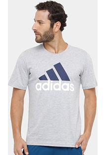 Camiseta Adidas Essentials Linear Masculina - Masculino-Cinza