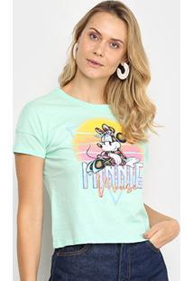 Blusa Cativa Disney Minnie Feminina - Feminino-Verde Claro