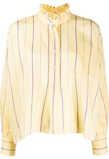 Isabel Marant Étoile Striped Print Blouse - Amarelo