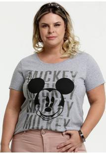 Blusa Feminina Estampa Mickey Plus Size Disney