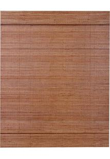 Persiana Romana Bambu 140X160 - Evolux - Walnut