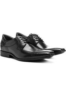 Sapato Social Shoestock Couro Amarração - Masculino-Preto