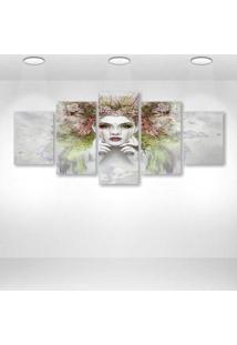 Quadro Decorativo - Face - Composto De 5 Quadros - Multicolorido - Dafiti