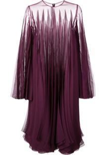 Rubin Singer Vestido Reto Com Recortes Vazados - Roxo