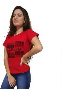 Camiseta Cellos Degradê Premium Feminina - Feminino-Vermelho