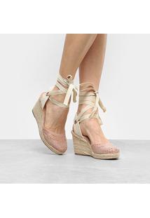 Sandália Anabela Shoestock Hot Fix Feminina