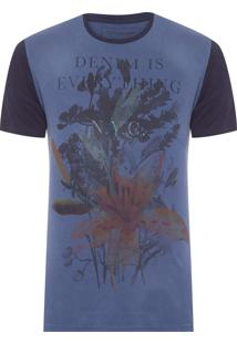 Camiseta Masculina Denim Is Everything - Azul