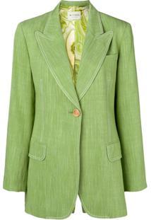 Etro Blazer Com Abotoamento Simples - Green