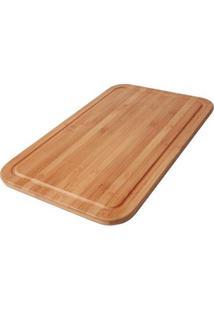 Tábua Para Corte Bamboo 50Cm X 30Cm - Unissex-Marrom Claro