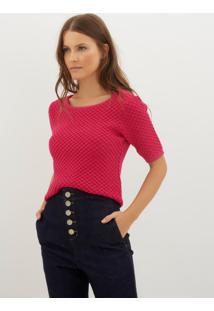 Blusa Bobô Maira Pink Tricot Rosa Feminina (Rosa Medio, Gg)