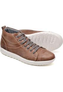 Sapatênis Cano Alto Top Franca Shoes Masculino - Masculino-Café