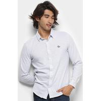 f488b68268 Camisa Polo Rg 518 Listrada Manga Longa Masculina - Masculino-Branco